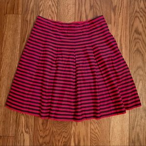 J. Crew • Navy and Red Skirt